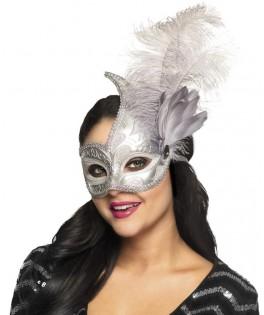 Masque Vénitien argenté