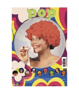 Perruque Pop rouge