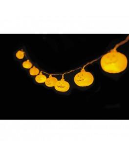 Guirlande de citrouilles lumineuses
