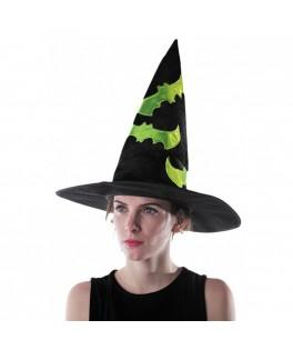 Chapeau de sorcière noir et vert