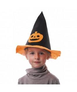 Chapeau de sorcière Citrouille Enfant