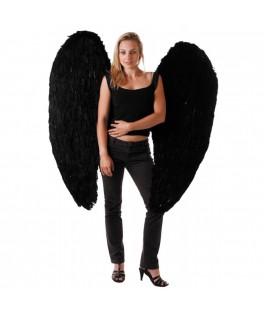 Ailes d'ange noire 120 cm
