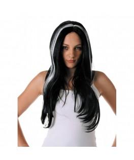 Perruque ùèches blanches Sorcière Halloween