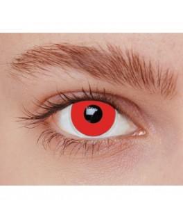 Lentilles fantaisie Iris rouge