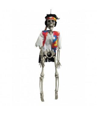 Suspension squelette Halloween Hippie