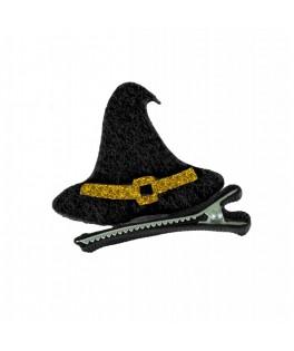 Barrette  Chapeau de sorcière feutrine