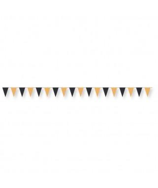 Guirlande mini fanions Halloween - 2 m