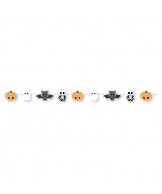 Guirlande fanions mini monstres Halloween - 2 m