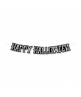 Guirlande Happy Halloween noire - 3,5 m