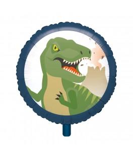 Ballon rond Dinosaure métallisé