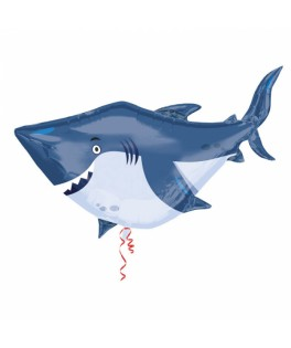 Ballon Requin métallisé