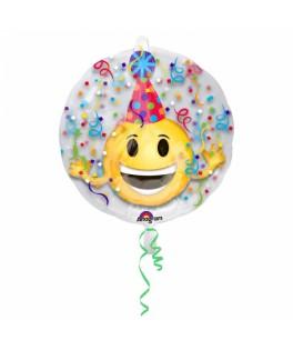 Ballon Emoticone Fête métallisé