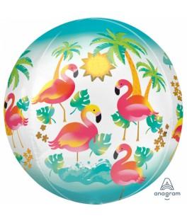 Ballon Orbz Flamant Rose