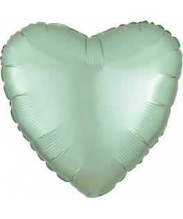 Ballon Coeur vert menthe