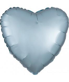 Ballon Coeur bleu pastel