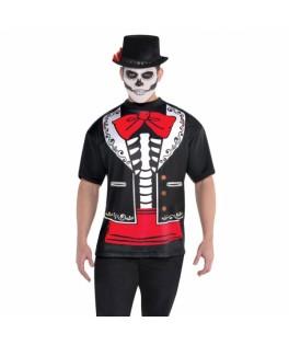 deguisement tee shirt homme dia de los muertos halloween