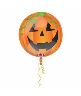 Ballon single Bubble Citrouille Halloween