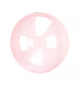 Ballon transparent rose fuschia