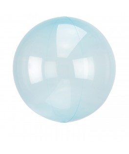 Ballon transparent bleu ciel