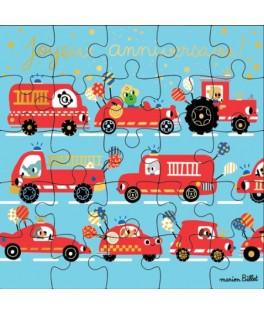 Carte Joyeux Anniversaire Pompier Puzzle