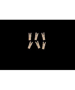 20 Mini pinces à linge bois naturel