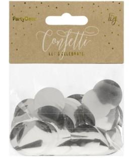 Confettis ronds métallisés Argent