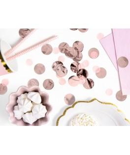 Confettis ronds métallisés rose gold