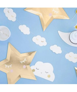 Guirlande naissance 12 nuages