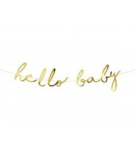 Guirlande Hello Baby lettres Or