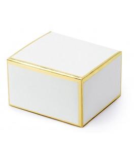 10 Boîtes blanches contours dorés