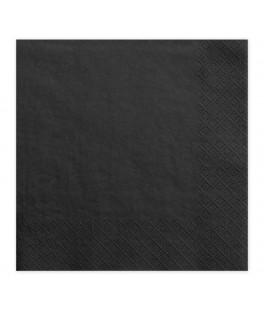 20 Serviettes papier noires
