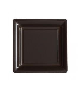 assiettes carrees chocolat