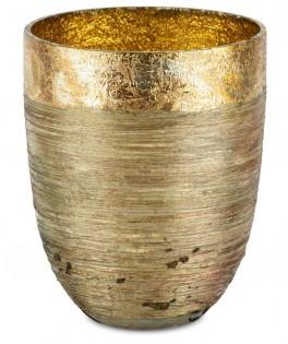 Photophore en verre cuivré - 12x12x15 cm