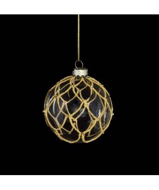 Boule de Noël transparente avec or