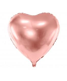 Ballon Coeur métallisé rose gold 48 cm