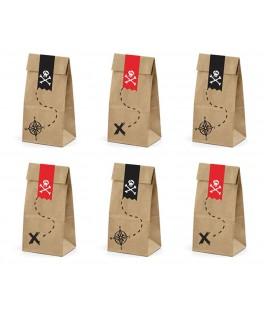6 Pochettes cadeaux Pirate