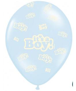 Ballon Baby Shower Garçon chaussons bleus