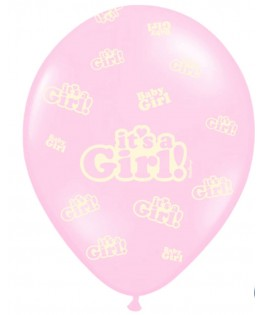 50 Ballons Baby Shower Fille It s Girl