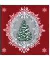 20 Serviettes rouges Sapin Noel - 40 x 40 cm