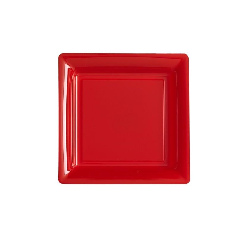 assiettes carr es rouges happy fiesta lyon. Black Bedroom Furniture Sets. Home Design Ideas