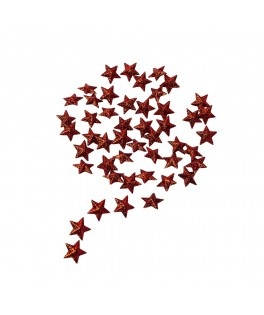 50 Etoiles paillettes rouges 2 cm