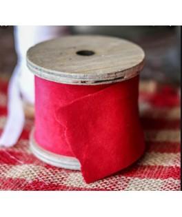 Ruban velours rouge (5 cm x 3 m)