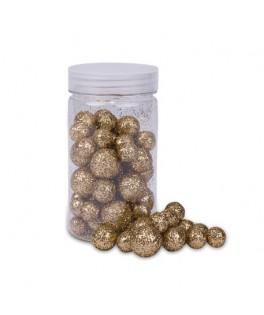 Boules polystyrène paillettes cuivrées