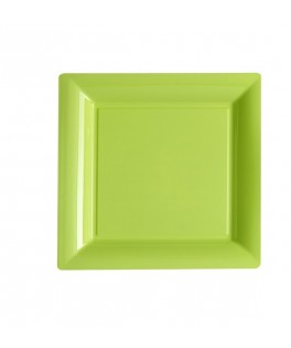 assiettes carrees vert anis
