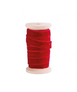 Ruban velours rouge (13 mm x 3 m)