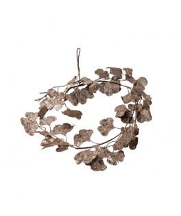 Guirlande de feuilles de Ginko paillettes sequins or