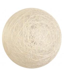 4 Boules de coton ivoire