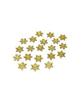 Confettis de table flocons paillettes or