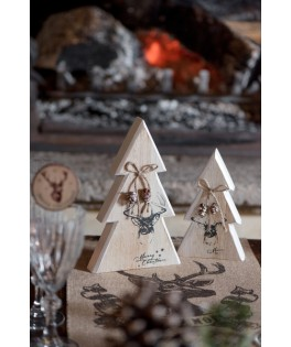 Sapin de Noel en bois cerf