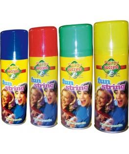 Aérosol fil fou fluo 4 couleurs 83 ml